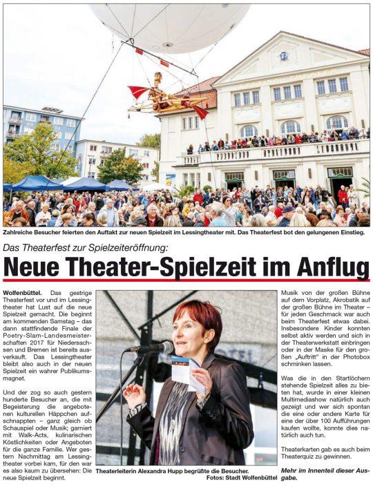 Kulturbund der Lessingstadt Wolfenbüttel e.V. - Theaterfest Lessingtheater Spielzeiteröffnung