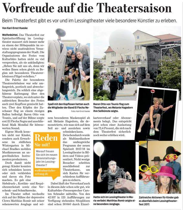 Kulturbund der Lessingstadt Wolfenbüttel e.V. - Theaterfest Lessingtheater